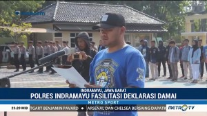 Suporter Bola di Indramayu Gelar Deklarasi Damai