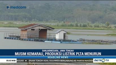 Produksi Listrik PLTA Mrica Menurun Akibat Kemarau