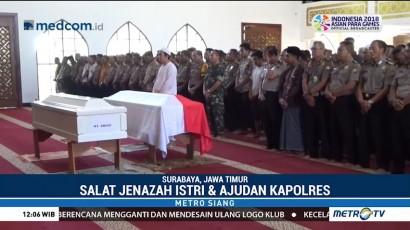 Jenazah Istri dan Ajudan Kapolres Tulungagung Disalatkan di Masjid Polda Jatim
