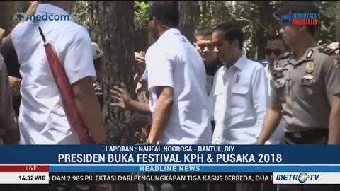 Jokowi Buka Festival KPH Tingkat Nasional dan Pameran Usaha Kehutanan