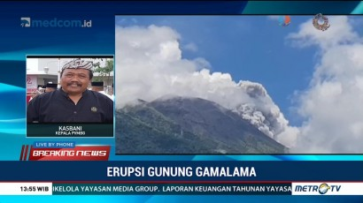 Warga Diimbau Jauhi Radius 1,5 Km dari Gunung Gamalama