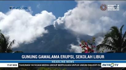 Sekolah di Ternate Diliburkan Akibat Debu Vulkanik Gamalama