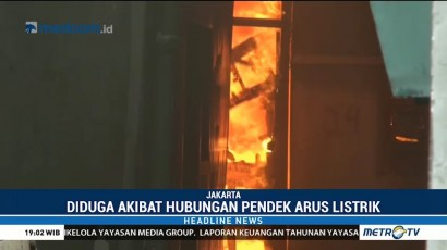 Kebakaran di Klender Hanguskan 10 Rumah Warga