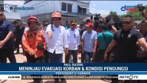 Jokowi Tinjau Proses Evakuasi dan Kondisi Pengungsi Korban Gempa Sulteng