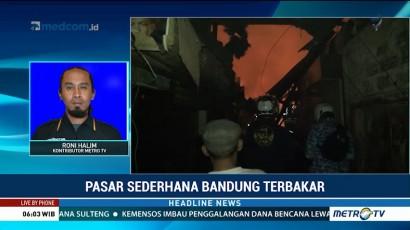 Kebakaran di Pasar Sederhana Bandung Diduga Akibat Korsleting Listrik