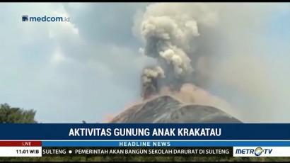Gunung Anak Krakatau Semakin Tinggi