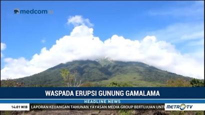 Status Gunung Gamalama Siaga di Level Dua