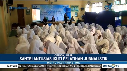 Metro TV Tularkan Ilmu Jurnalistik ke Santri Ponpes KHAS