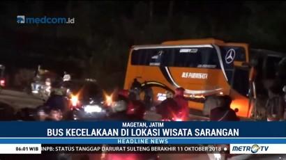 Kecelakaan Bus Pariwisata di Magetan, 2 Tewas