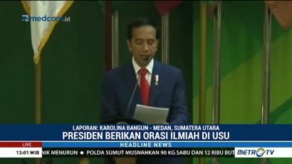 Jokowi Sampaikan Orasi Ilmiah di USU