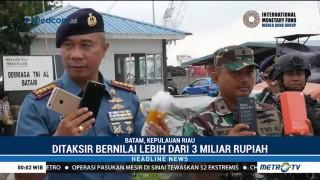 TNI AL Batam Gagalkan Penyelundupan Ribuan HP