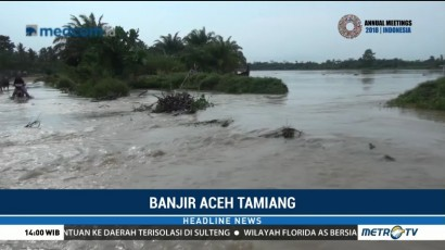 Tanggul Jebol, Lima Desa di Aceh Tamiang Terendam Banjir