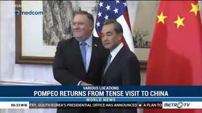 Pompeo Returns from Tense Visit to China