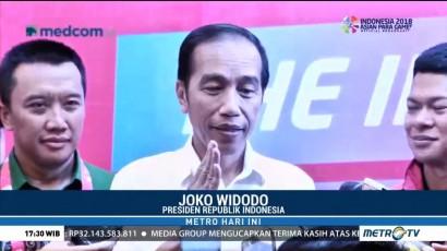 Jokowi Saksikan Langsung Pertandingan Angkat Berat APG 2018