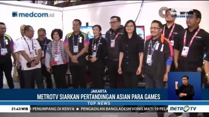 Jajaran Direksi Metro TV Kunjungi IBC Asian Para Games 2018