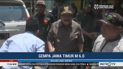 Gubernur Jatim Tinjau Lokasi Terdampak Gempa