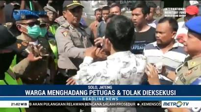 Pembongkaran Puluhan Rumah di Surakarta Ricuh