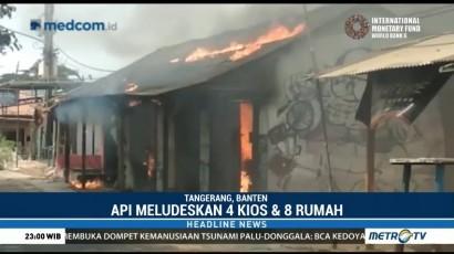 4 Kios dan 8 Rumah Kontrakan di Sepatan Ludes Terbakar