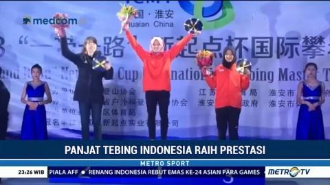 Panjat Tebing Indonesia Sabet Dua Medali Emas di Tiongkok