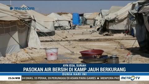 Kamp Pengungsi di Suriah Kesulitan Air Bersih