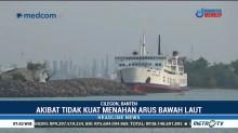 Kapal Roro Kandas Akibat Tidak Kuat Menahan Arus Bawah Laut