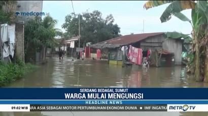 Terendam Banjir, Warga Serdang Bedagai Mulai Mengungsi