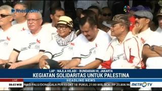 Menlu RI dan Palestina Jalan Santai di CFD