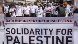 Menlu Retno Ramaikan Fun Walk Solidarity Week for Palestine