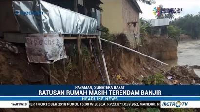 3 Rumah Warga di Pasaman Hanyut Terbawa Arus Banjir