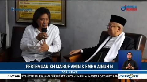 Ma'ruf Amin Bertemu Cak Nun di Yogyakarta