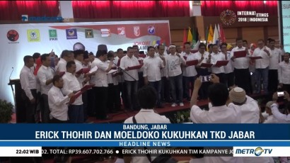 Erick Thohir Kukuhkan TKD Jokowi-Ma'ruf se-Jabar