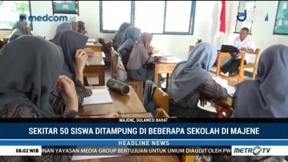 Sekolah di Majene Tampung Siswa Korban Gempa dan Tsunami Sulteng