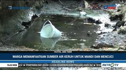 Kekeringan, Warga Terpaksa Gunakan Air Keruh untuk MCK