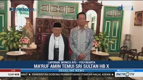 Hari Kedua di Yogyakarta, Ma'ruf Amin Temui Sri Sultan HB X
