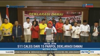 Polres Gresik Ajak Parpol dan Caleg Kampanye Pemilu Damai 2019