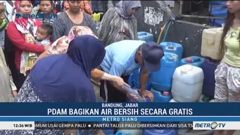 Musim Kemarau di Bandung, PDAM Tirtawening Bagikan Air Bersih