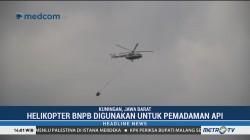 Helikopter BNPB Digunakan untuk Pemadaman Api di Gunung Ciremai