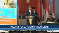 Hadiri Dies Natalis UKI ke-65, Jokowi: Pemilu 2019 Jangan Memecah Belah