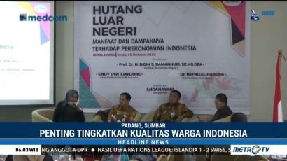 Utang Luar Negeri Indonesia untuk Bangun Infrastruktur