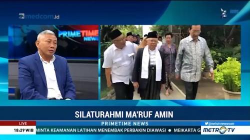 Silaturahmi Ma'ruf Amin Bahas Masalah Bangsa