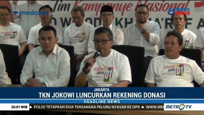 Tim Kampanye Jokowi-Ma'ruf Luncurkan Rekening Donasi