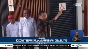 Jokowi Tinjau Fasilitas Ramah Disabilitas di GBK