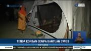 Tenda Bantuan Swiss untuk Pengungsi Gempa Sulteng Telah Didirikan