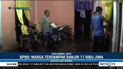 Korban Banjir di Aceh Barat Enggan Mengungsi