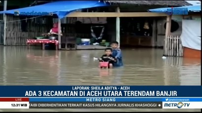 Tiga Kecamatan di Aceh Utara Dilanda Banjir