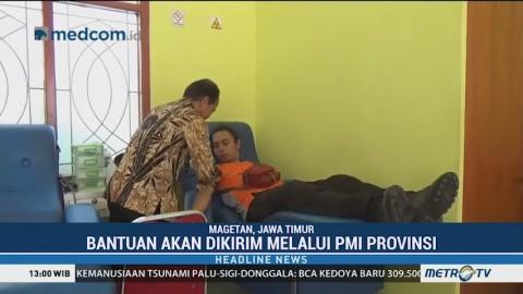 PMI Magetan Siapkan Puluhan Kantong Darah untuk Korban Gempa