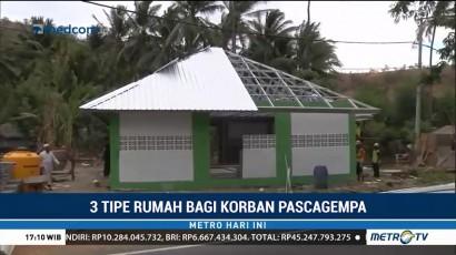 Tiga Tipe Rumah untuk Korban Gempa Lombok