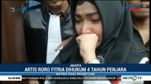 Roro Fitria Menangis Divonis 4 Tahun Penjara