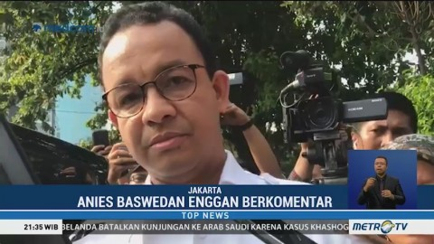 Anies Bungkam Saat Ditanyai Kasus Gizi Buruk