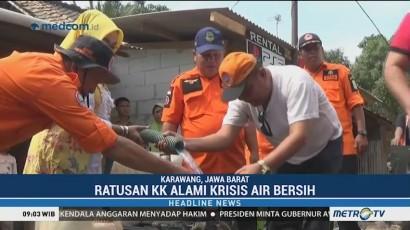 DPRD Bersama BPBD dan PDAM Kabupaten Karawang Distribusikan Air Bersih